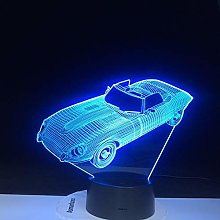Colors Change Home Decor Table Lamp Fixture 3D Car