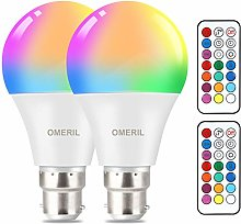 Colour Changing Light Bulb [2 Pack], OMERIL B22