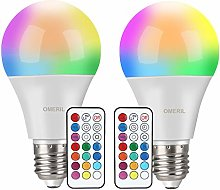 Colour Changing Light Bulb [2 Pack], OMERIL E27