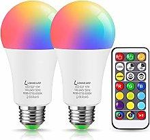 Colour Changing Light Bulbs, E27 Edison Screw,