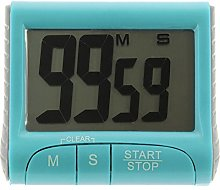 COLOUR WORKS ELECTRONIC Kitchen TIMER blue