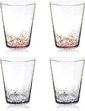 Coloured Speckle Water Glasses Set of 4-210ml