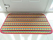 Colourful Non Slip Gel Backing Washable Hall