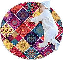 colourful patterns detail, Round Area Rug Pattern