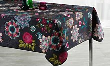 Colourful Tablecloth: Happy Flowers/160cm Round