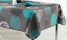Colourful Tablecloth: Round 160cm/Cyan