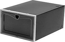 ColourQ 4pcs Flip Shoes Box Drawer Case Clear