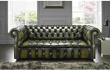 Colston Genuine Leather 3 Seater Chesterfield Sofa