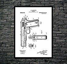 Colt 45 Poster Colt 45 Patent Colt 45 Print Colt