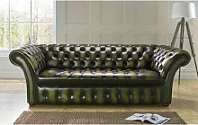 Colyer Genuine Leather 3 Seater Chesterfield Sofa