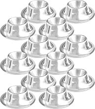 com-four® 12x Egg Cup Made of Stainless Steel, Ø