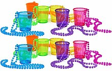 COM-FOUR® 12x Shot Glasses with Chain for Hanging