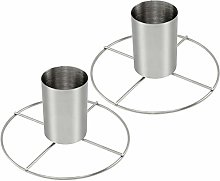 com-four® 2 Stainless Steel Chicken Roast, Grill