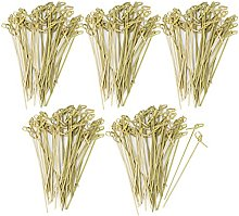 com-four® 200x Fingerfood skewers Made of Bamboo