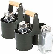 com-four® 6-Piece Spice Shaker Set Made of Glass