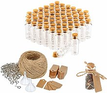 com-four® 60x Spice jar Set with Corks and