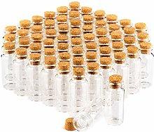 com-four® 60x Spice jar Set with Corks, Mini