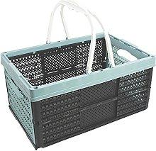 com-four® Plastic shopping basket with handles