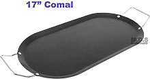 Comal 17 inch Mexican Carbon Steel Black Oval Flat