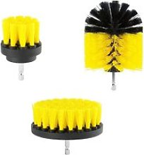 Combo Electric Drill Scrubber Brush Kit,Yellow