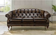 Comeau Genuine Leather 3 Seater Chesterfield Sofa