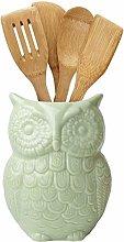 Comfify Owl Utensil Holder Decorative Ceramic