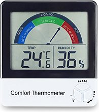 Comfort thermometer & hygrometer with max/min