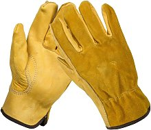 Comfortable Leather Gardening Gloves with