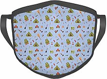 Comfortable Windproof mask,Camping Icons Such as