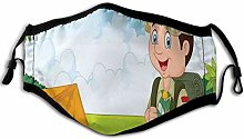 Comfortable Windproof mask,Little Boy Scout With