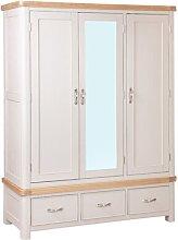 Comfrey 3 Door Wardrobe August Grove Finish: Brown