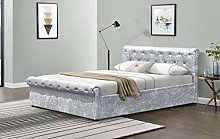 Comfy Living Crushed Velvet Diamante Chesterfield