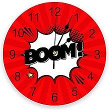 Comic Art Boom Modern Wall Clock For Home Office