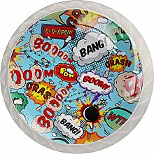 Comic Speech Bubbles Drawer Knobs Pulls Cabinet