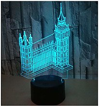 Comiwe 3D Illusion Night Light Big Ben Toys,16