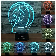 Comiwe Basketball (B) 3D Illusion Night Light,16