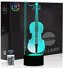 Comiwe Cello 3D Illusion Night Light Toys,16
