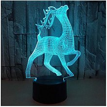 Comiwe Deer (D) 3D Illusion Night Light Toys,16