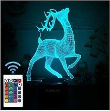 Comiwe Deer (D) 3D Illusion Night Light Toys,16