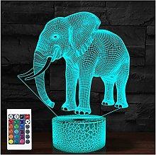 Comiwe Elephant 3D Illusion Night Light Toys,16