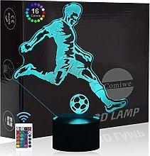 Comiwe Football 3D Visual Night Light Toys,Home