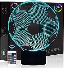 Comiwe Football Soccer 3D Illusion Night Light