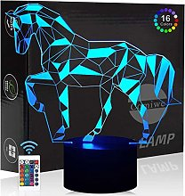 Comiwe Horse (A) 3D Illusion Night Light Toys,16
