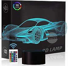 Comiwe Sports Racing Car 3D Illusion Night Light