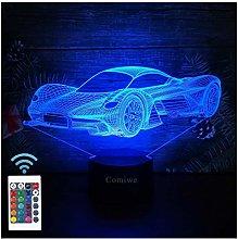 Comiwe Sports Racing Car 3D Illusion Night Light