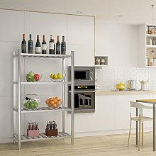 Commercial 4 Tier Catering Storage Rack Shelf