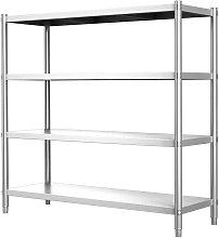 Commercial 4 Tier Storage Rack Unit Shelf Kitchen