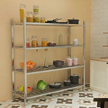 Commercial Catering Shelf 4 Tier Stainless Steel