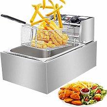 Commercial Deep Fat Fryer, 6.3QT/6L 2500W MAX