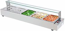 Commercial Food Warmer 5-Plate Stainless Steel